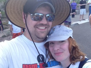 Daniel and me at the Melanoma Walk in October 2012!
