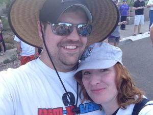 Daniel and me at the Melanoma Walk in October 2012!