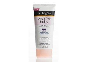 Neutrogena Pure & Free Baby sunscreen tube